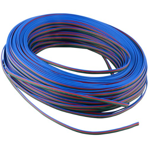 RGB Extension Cable Wire Cord for RGB LED Light Strips 3528 5050, 330 FT