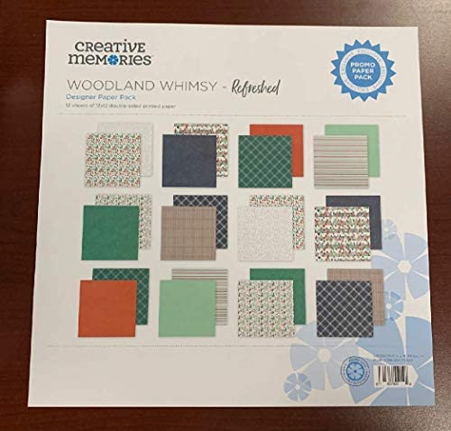 Rare Creative Memories Woodland Whimsy リフレッシュベビーフォックスデザイナー ペーパーパック (12/パック) 両面スクラップブック