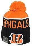New Era NFL15 On-Field Sport Knit Cincinnati Bengals Orange Black Pom