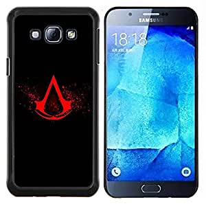 Qstar Arte & diseño plástico duro Fundas Cover Cubre Hard Case Cover para Samsung Galaxy A8 A8000 (Asesinos Crest)