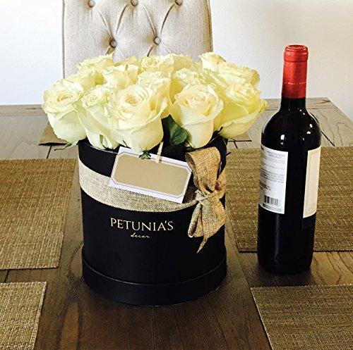 Elegant Arrangement - Gift Box with Lid, Round Gift Box, Wedding Decor, Floral Arrangement accessories, Luxury Elegant Gift Box, Flower Box