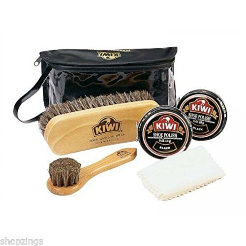 Kiwi Deluxe Shine Kit Black. Leather Dress Shoes Shining Polish Set from Unknown