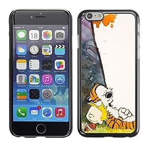 // PHONE CASE GIFT // Duro Estuche protector PC Cáscara Plástico Carcasa Funda Hard Protective Case for Apple Iphone 6 Plus 5.5 / Tigre y Boy /