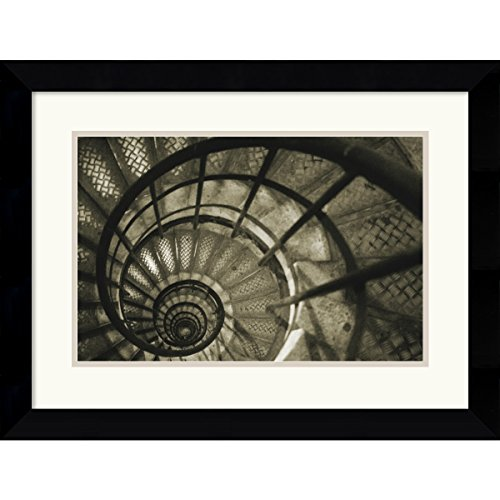 Framed Art Print, 'Spiral Staircase in Arc de Triomphe' by Christian Peacock: Outer Size 25 x 20'' by Amanti Art