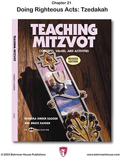 Teaching Mitzvot: Tzedakah