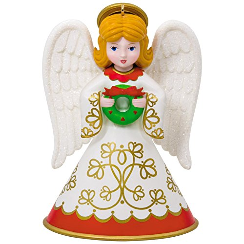 Hallmark Keepsake 2017 Heirloom Angels Wreath Christmas Ornament Halo Christmas Ornament