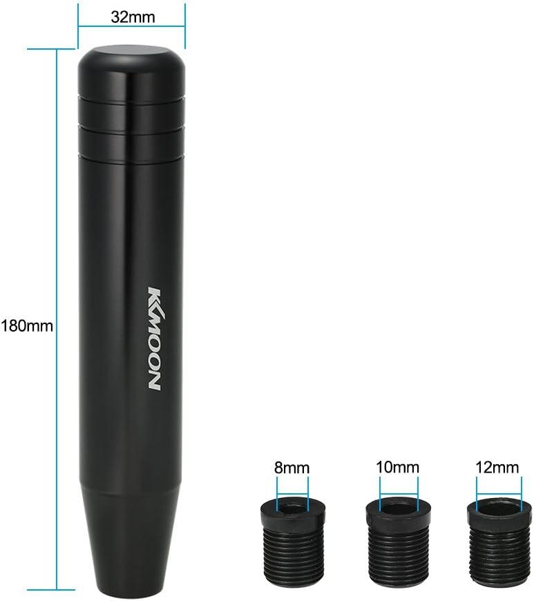 Kkmoon Pomello del cambio universale con 3 adattatori 18 cm di lunghezza Nero
