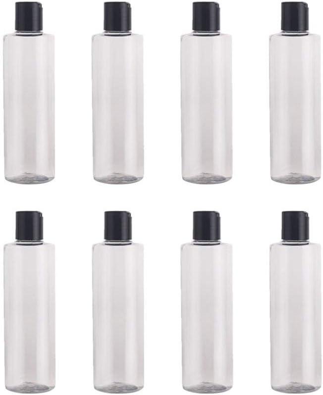 Hemoton 8 Piezas de Plástico Botellas de Loción Vacía Pequeños Contenedores de Viaje para Líquidos Champú Loción 250 Ml