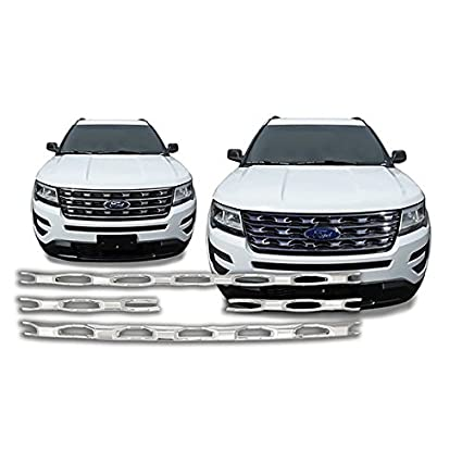 Hubcaps Plus Chrome Grille Overlay Insert For 2016 2017 Ford Explorer Except Sport IWCGI139