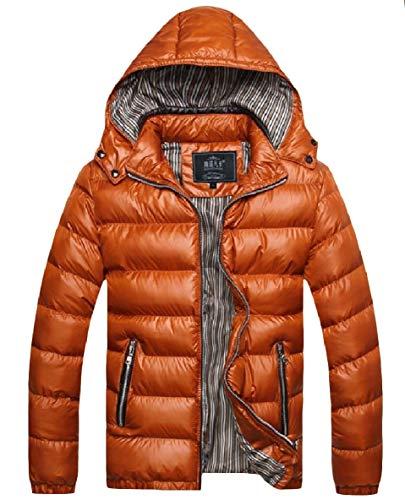 Size Long Puffer XINHEO Mens Plus Zipper golden Down Hood Pocket Thick Sleeve 78X7RU