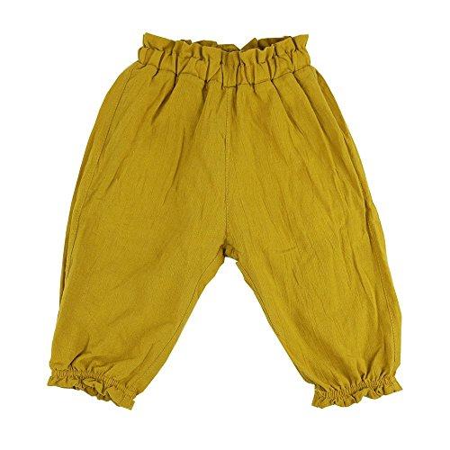 Wennikids Cute Toddler Kids Baby Boy Girl Casual Harem Long Pants Bloomers Medium Mustard