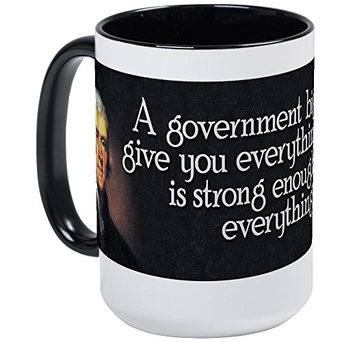 Jefferson Cup - CafePress - Jefferson_Biggovt Large Mug - Coffee Mug, Large 15 oz. White Coffee Cup