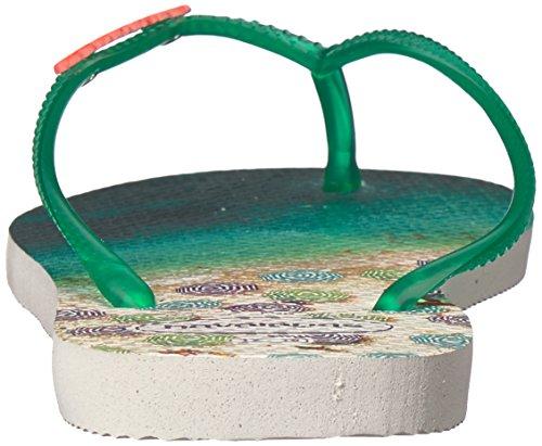 Flip Mint Paisage Havaianas Slim White Flop Green Women's qnvYtgYa6