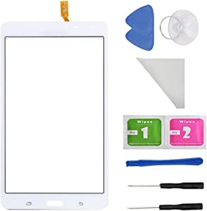 """White Touch Screen Panel Digitizer Glass For Samsung Galaxy Tab 4 SM-T230 T230NU 7"""" inch With (Adhesive) and Tool"""