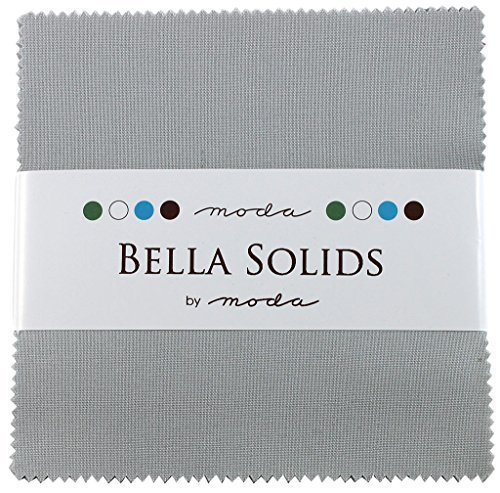 (Bella Solids Zen Grey Charm Pack 42 Squares 5