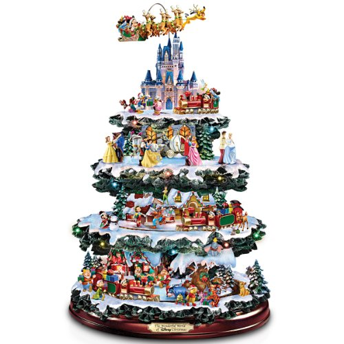 bradford exchange the disney tabletop christmas tree the wonderful world of disney - Disney Christmas Decorations