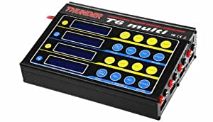 Thunder T6 Multi-LiPo Battery Charger (4X 6-Cell) Professional Balance Charger/DisCharger w/ LCD Display