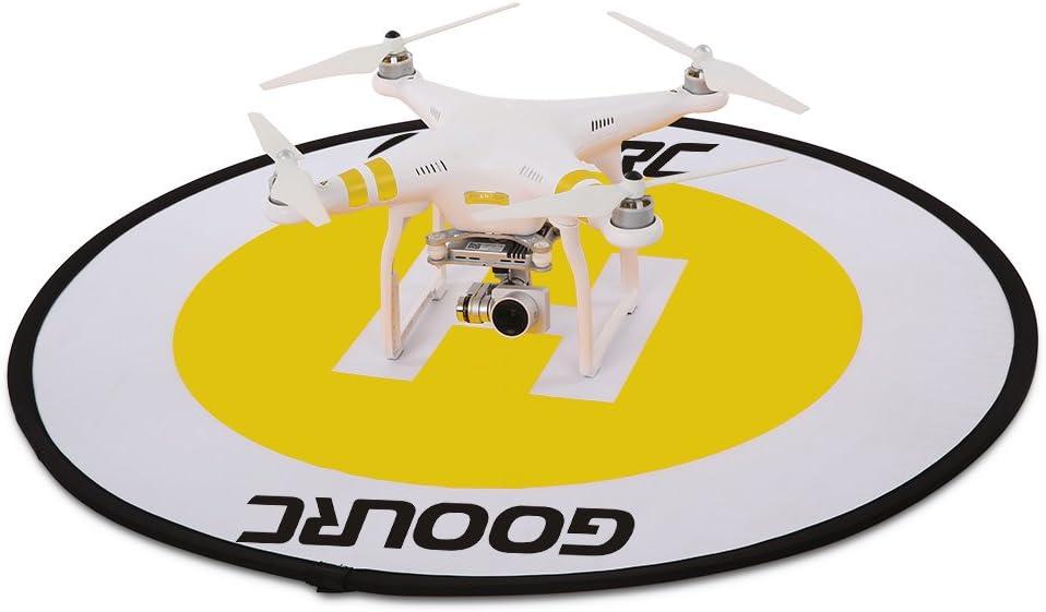 GoolRC 78cm Tapis datterrissage r/étractable rapide /à fluorescence r/étractable pour Mavic Pro Phantom 3 4 FPV Quadcopter RC Helicopter