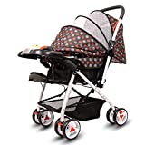 Little Olive Tweety Reversible Baby/Kids Stroller and Pram with Musical Food Tray (Chocolate Brown)