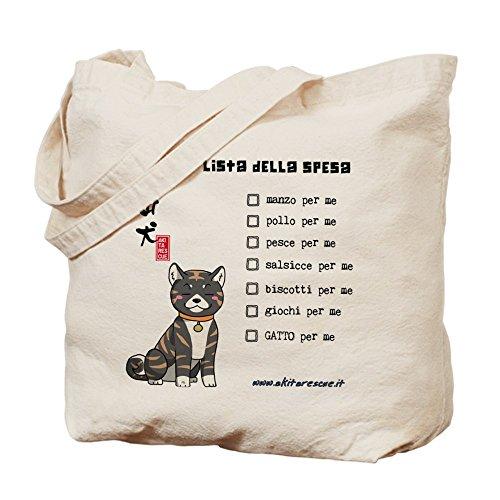 CafePress–Bolsa & quot; Lista della spesa & quot;–Gamuza de bolsa de lona bolsa, bolsa de la compra