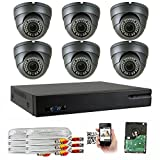 Cheap GW 5-In-1 1080P 8 Channel DVR 2MP 4X Optical Zoom Security Camera System with (6) x True HD 1080P Waterproof Auto-Focus 4X Motorized Zoom Varifocal 25°-100° Dome Camera