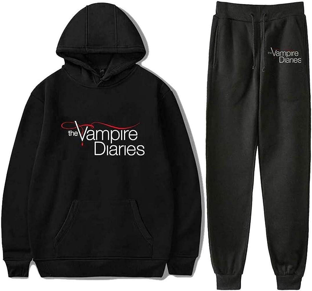 MenWomen 3D Print The Vampire Diarie Sweatshirt Hoodies Jogging pants Sport Suit