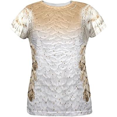 Halloween Barn Owl Costume All Over Womens T-Shirt