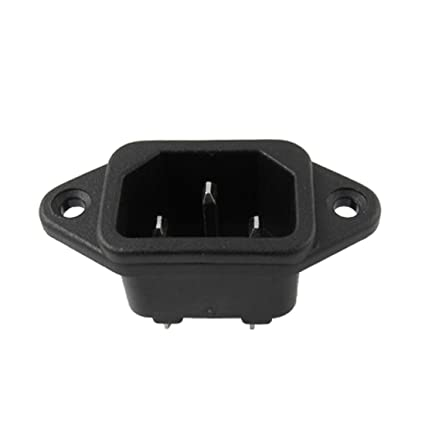 Sourcingmap Conector de alimentación 250V 15A Estufa eléctrica sustitución Parte C14