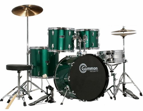 green-drum-set-full-size-adult-complete-kit-with-cymbals-stands-stool-hardware