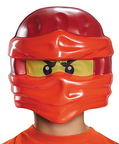 [Lego Ninjago Kai Minifigure Ninja Theme Party Plastic Child Half Mask] (Ultimate Party Animal Halloween Costume)