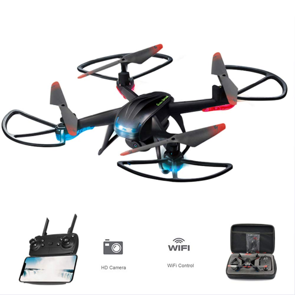 Quadcopter FPV RC Luftgewehr-Flugzeug 6-Axis Gyroscope 720P HD-Kamera Headless Mode One Key Return LED-Beleuchtung Optical Anti-Shake, für Kinder und Anfänger
