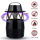 Dolloly Electronic Mosquito Killer, Mosquito Trap LED Lamp, Bug Zapper Insect Killer, USB Power Mosquito Trap for Indoor and Outdoor Use 01 BK