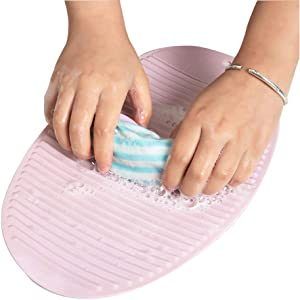 Household Washboard Small Washboard 2 pack New Mini Non-Slip Laundry Pad Soft Plastic Hand Folding Collapsible Washboard Hand Wash Clothes Tool Free 2 high-end velvet hair bands