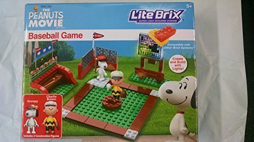 LiteBrix Peanuts Baseball Game by Unknown B01M365YAL