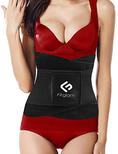 Review Fitglam Waist Trainer Corset for Weight Loss Workout Waist Trimmer Cincher Ab Belt Postpartum Girdle Hourglass Body Shaper,BlackX-Large (Fits 35.5-41.5 Inches Waist)