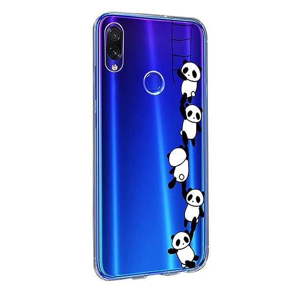 Xiaomi Redmi Note 7 Pro Funda,Redmi Note 7 Carcasa Silicona Transparente Protector TPU Ultra-Delgado Anti-arañazos Cristal Case para Teléfono Redmi ...