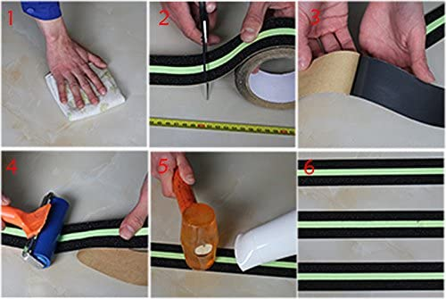 Anti Slip Grip Tape phosphorescent en Int/érieur et ext/érieur 5,1 cm X 5 m Noir TooTaci ruban adh/ésif de s/écurit/é Am/éliore la prise en main et antid/érapant S/écurit/é BilligerLuxus