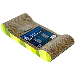 Catit Style Scratcher with Catnip, Jungle-Stripe Lounge