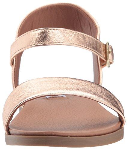 Steve Madden Women Dina Flat Sandalo In Oro Rosa