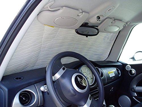 HeatShield The Original Auto Sunshade, Mini Cooper Hatchback (3D) 2002-2013, Silver Series