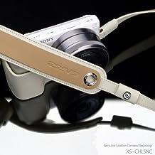 Gariz Genuine Leather XS-CHLSNC Camera Neck Strap for Mirrorless Camera Sony RX1 NEX-7 NEX-6 NEX-5R NEX-5N RX100 LX7 Leica X1 X2 Fujifilm X-E1 X-M1 X100 X100S X10 X20 X-Pro1 Olympus EM-5 OM-D, Cream