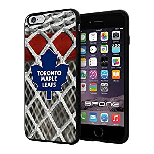 Toronto Maple Leafs Goal NHL Logo WADE5071 iPhone 6+ 5.5 inch Case Protection Black Rubber Cover Protector