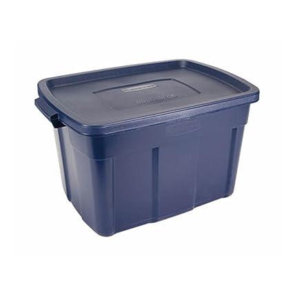 amazon com rubbermaid roughneck tote storage container 25 gallon