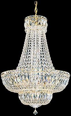 Schonbek 6616-40S Swarovski Lighting Petit Crystal Deluxe Chandelier, Silver