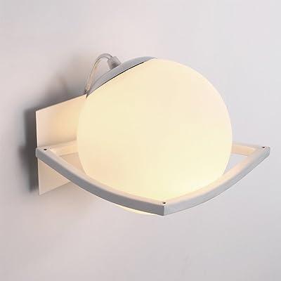 Applique en verre/Simple Modern/Blanc / 1 flamme / E27 220V / Metal glass/Applique / Lampe de salon/Lampes de couloir/Éclairage d'intérieur / Ø16CM