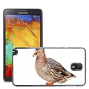 Etui Housse Coque de Protection Cover Rigide pour // M00133300 Pato Mallard Perfil lateral Agua // Samsung Galaxy Note 3 III N9000 N9002 N9005