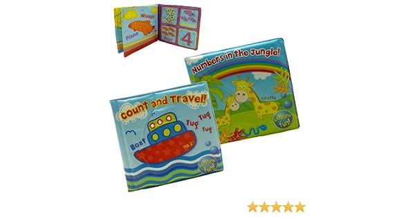 2 Libros de Baño Coloridos e Impermeables Suaves