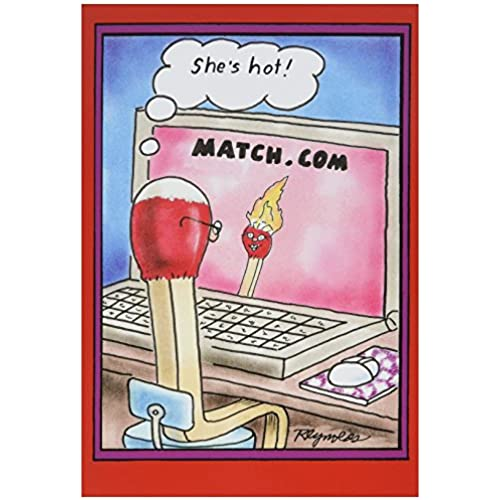 NobleWorks 2029 Match Dot Com Funny Valentine's Day Unique Greeting Card, 5 x 7 Sales