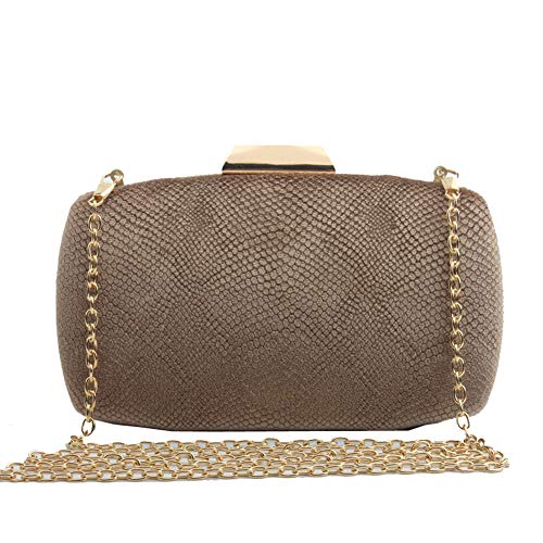 Womens Golden Bag Party Solid Clutch For Flannel Fashion Banquet Chain Evening Wedding Color rHqW7RSrB
