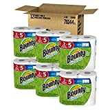 Grocery : Bounty Quick-Size Paper Towels, 12 Family Rolls, White